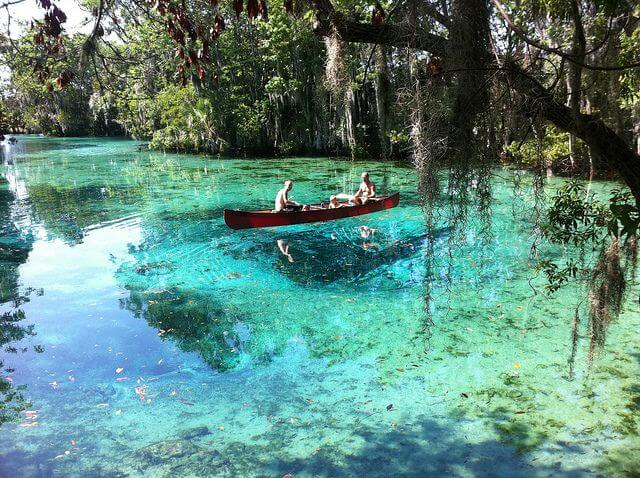 Crystal River in Florida