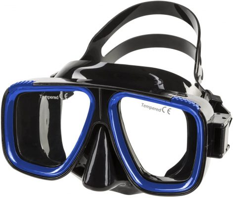 IST M80 2 Lens Snorkel Diving Mask