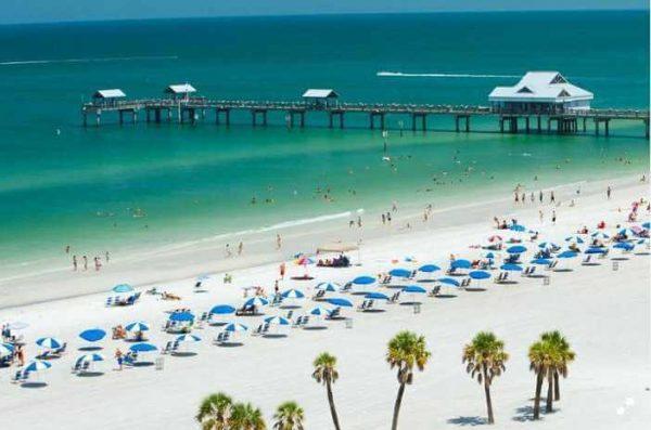 Main Beach In Clearwater Florida