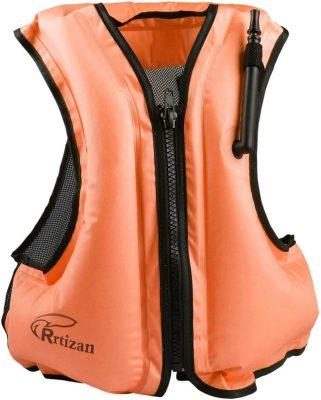 Rrtizan Adult Inflatable Snorkel Vest