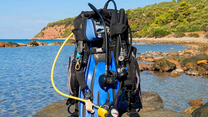 You can buy scuba gear on discount