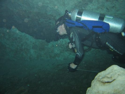 Image of cave diving
