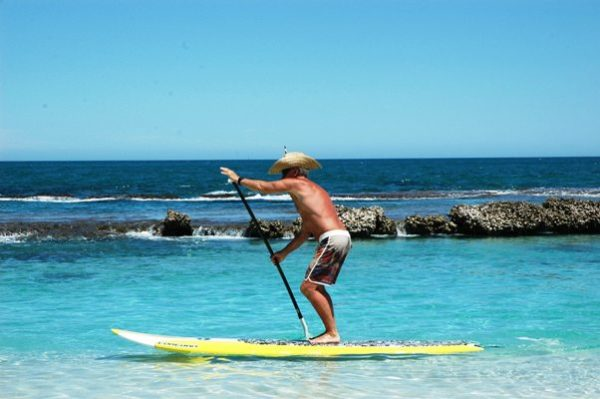 Image of paddle boarding