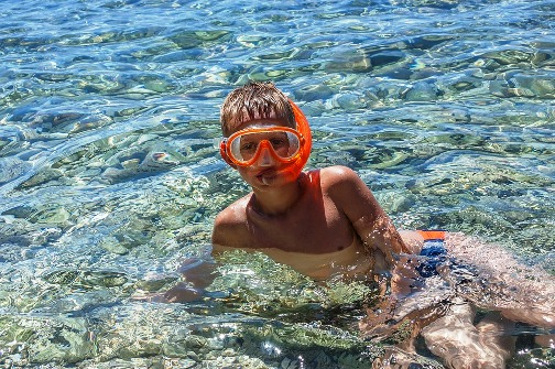 image of snorkeling with kids