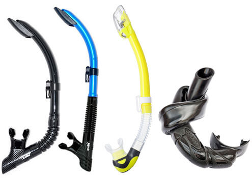 Types of snorkels and snorkel tubes