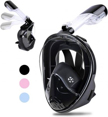 Greatever 2019 Upgrade G2 Full Face Snorkel Mask amazon