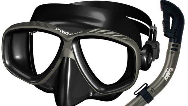 Promate Prescription Purge Mask Dry Snorkel Snorkeling
