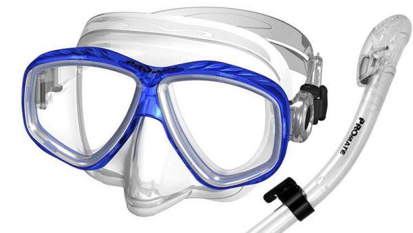 Promate Snorkeling Purge Mask and Dry Snorkel Combo Set