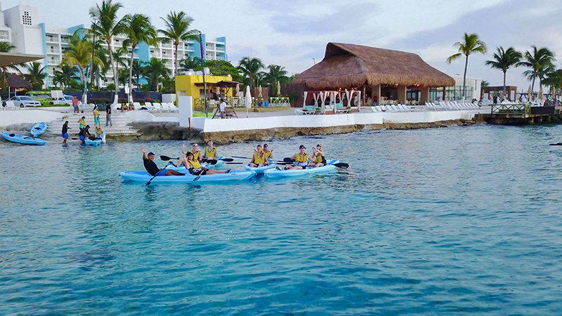 Paddle Boarding in Cozumel Island