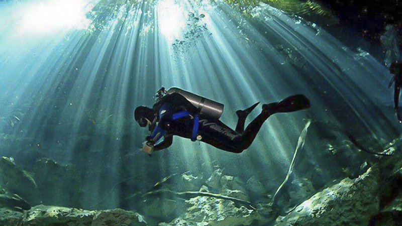 Scuba Diving in Riviera Maya Mexico